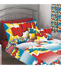 Superhero Double Duvet Set Bedding Fabulous Superhero Bedding
