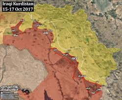 Iraq Province Map Summary Operation Of The Federal Government Of Iraq In Disputed