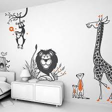 stickers savane chambre bébé stickers enfants décoration murale pour chambre enfant par e glue