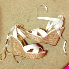 ribbon wedges 30 justfab shoes ribbon wedges from saaammage s