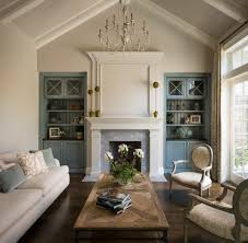 Traditional Accent Painted Built Ins Family Room Traditional With Freestanding Figurines
