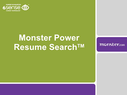Online Resume Search Free by Monster Com Power Resume Search