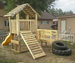 How To Build A Backyard Fort the 25 best pallet playhouse ideas on pinterest pallet