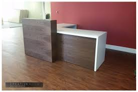 Wood Reception Desk Reception Creative Wood