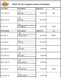 printable bulls schedule 15 los angeles lakers schedule