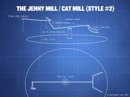 blue prints how to build a cat mill jenny mill blueprints included