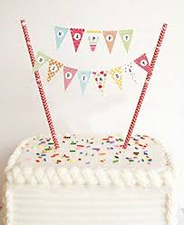 birthday cake toppers elsky mini happy birthday cake bunting banner cake