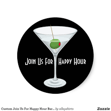 green cocktail black background cheerful happy hour invitation ecard design with green card and