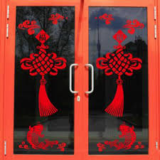 new year traditional decorations 2018 new year window decoration knot stickers traditional