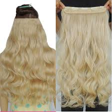Clip In Blonde Hair Extensions by Noble Gold Hair Extensions Synthetic Weave 5 Clip In Extension