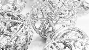 silver glitter ornaments widescreen wallpaper wide
