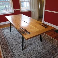 Cherry Dining Table Cherry Dining Table With Metal Legs City Bench