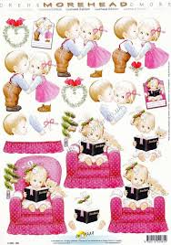 morehead christmas kisses 3d decoupage paper crafts card making