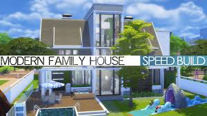 the sims 4 speed build modern family house youtube