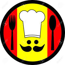 de cuisine espagnole logo circulaire représentant la cuisine espagnole banque d images et