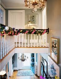 Banister Decorations For Christmas Diy Decorated Christmas Garlands U2013 Happy Holidays