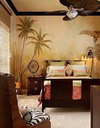 jungle themed bedroom with a modern safari theme