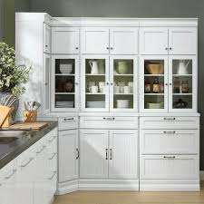 corner storage cabinet in kitchen martingale true white beadboard modular corner storage
