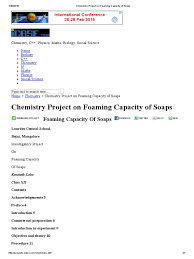 chemistry project on foaming capacity of soaps pdf soap