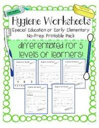 hygiene worksheets special education no prep printable pack