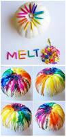melted crayon pumpkin decorating idea 17 cool pumpkin decorating