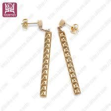 stylish gold earrings stylish earring daily party wear plain gold earrings buy