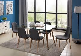 brayden studio gramercy park modern glass 7 piece dining set