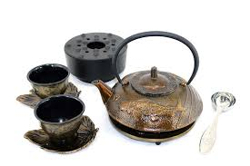 tea gift sets enjoy tea with our bronze koi cast iron tea gift set gifts ready