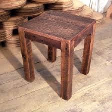 reclaimed wood end table reclaimed wood rustic oak parsons end table the oak furniture shop