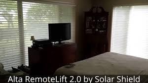 alta window shadings w remotelift 2 0 by solar shield youtube