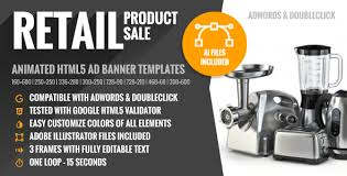 retail product sale html5 google ad banner templates by y n