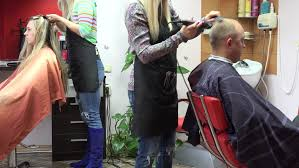 female haircutting videos clipper sirvintos lithuania september 27 2015 man hairstyling and