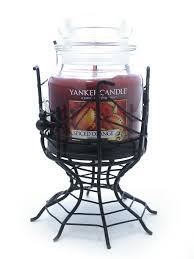 halloween candlestick holders yankee candle halloween spider web jar holder u0026 medium