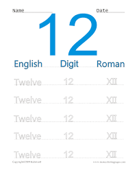 printable roman numerals 12 coloring worksheets free online