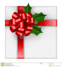 christmas gift bow christmas gift with bow and stock vector image 35867167