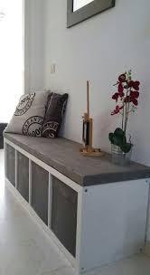 ikea benches with storage hallway bench ikea kallax pinteres