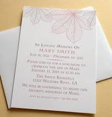 Funeral Service Invitation Peonies Mourning Cards For Memorial Funeral Announcements Or