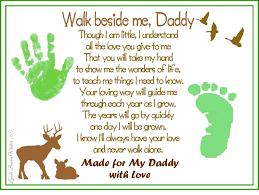 walk beside me daddy poem baby child handprint footprint
