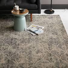 fans printed wool rug west elm