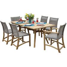 Jcpenney Outdoor Furniture by Outdoor Interiors 7 Piece Nautical Teak Dining Setwith Teak And