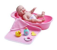 jc toys la newborn realistic baby doll bathtub gift