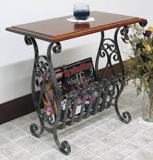 wrought iron end tables jake39s amish furniture 6001 wrought iron magazine rack end table