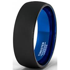 mens blue wedding bands tungsten wedding rings for him american tungsten carbide intended