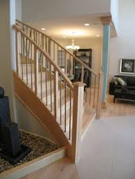 Contemporary Stair Rails And Banisters Open Basement Stairs Basement Stair Railing To Open It Up
