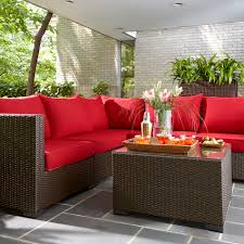 wicker patio furniture on patio cushions for luxury red patio