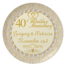 40th anniversary plates happy 40th anniversary plates zazzle