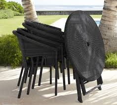 pottery barn bistro table palmetto all weather wicker folding bistro table chair set black