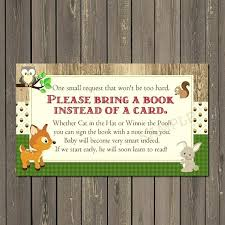 instead of a card bring a book baby shower books for baby shower elephant book card bring a book card