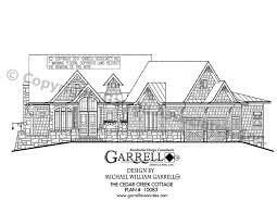 home plans craftsman style cedar creek cottage house plan house plans by garrell associates inc