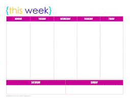 Employee Scheduling Calendar Template by Weekly Calendar Printable Weekly Calendar Template